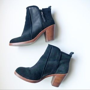 Matt Bernson Holt Black Suede/Leather Ankle Boot